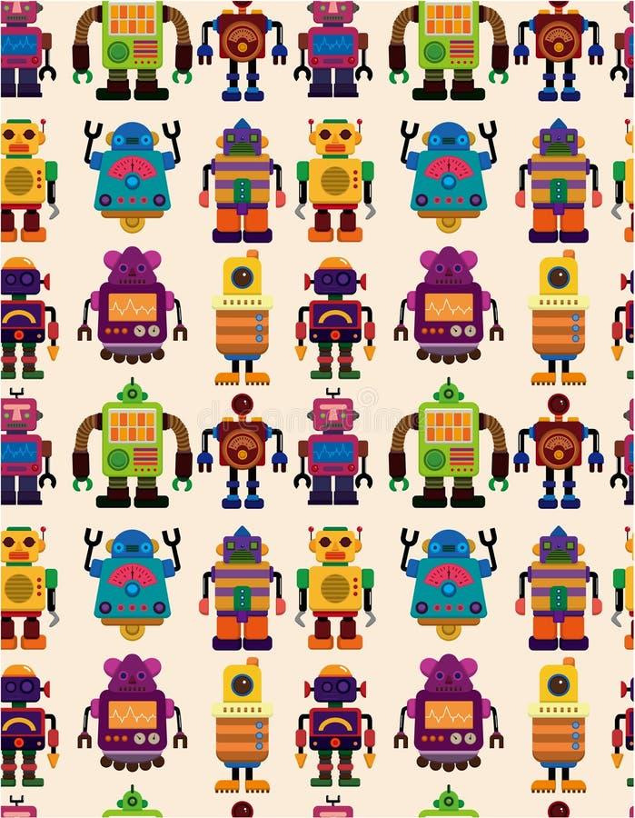 Het naadloze patroon van de Robot vector illustratie
