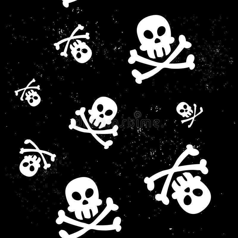 Het naadloze patroon van de schedel royalty-vrije illustratie