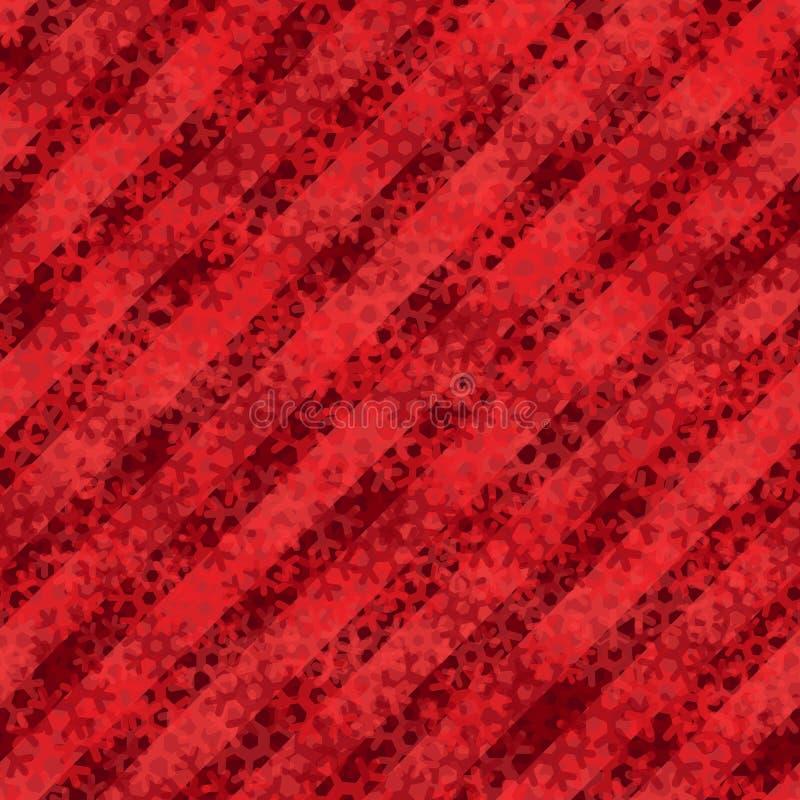 Het naadloze patroon van de sneeuwvlok Rode sneeuwachtergrond Abstract behang, het verpakken royalty-vrije illustratie