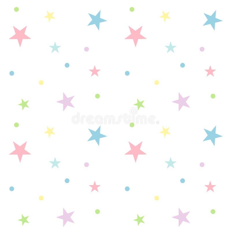 Het naadloze Patroon van de Ster van de Pastelkleur stock fotografie