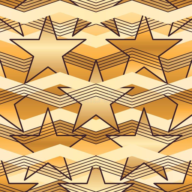 Het naadloze patroon van de sterchevron vector illustratie