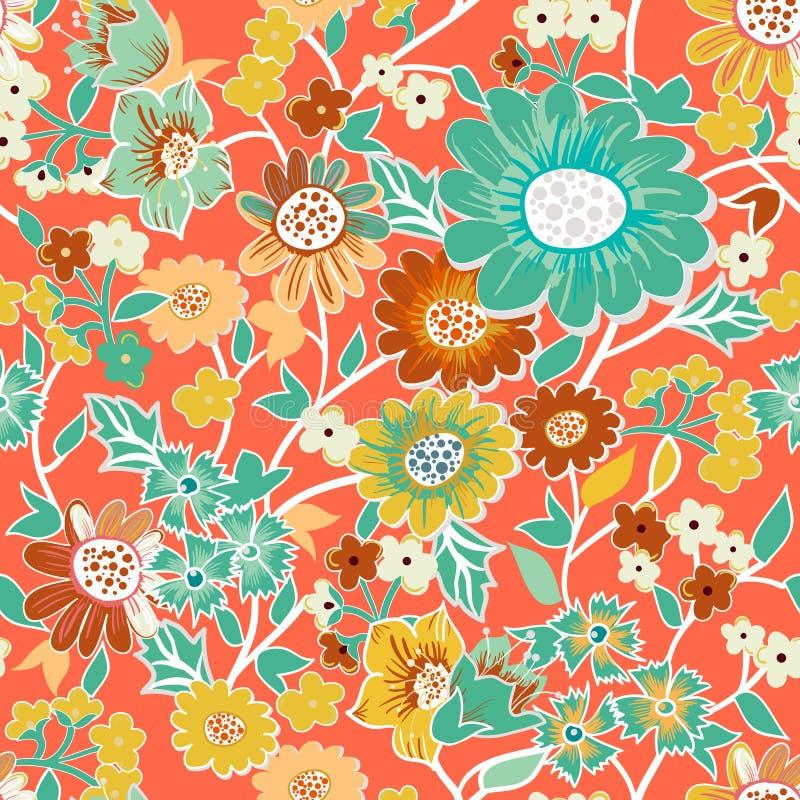 Het naadloze patroon van de tuin stock illustratie