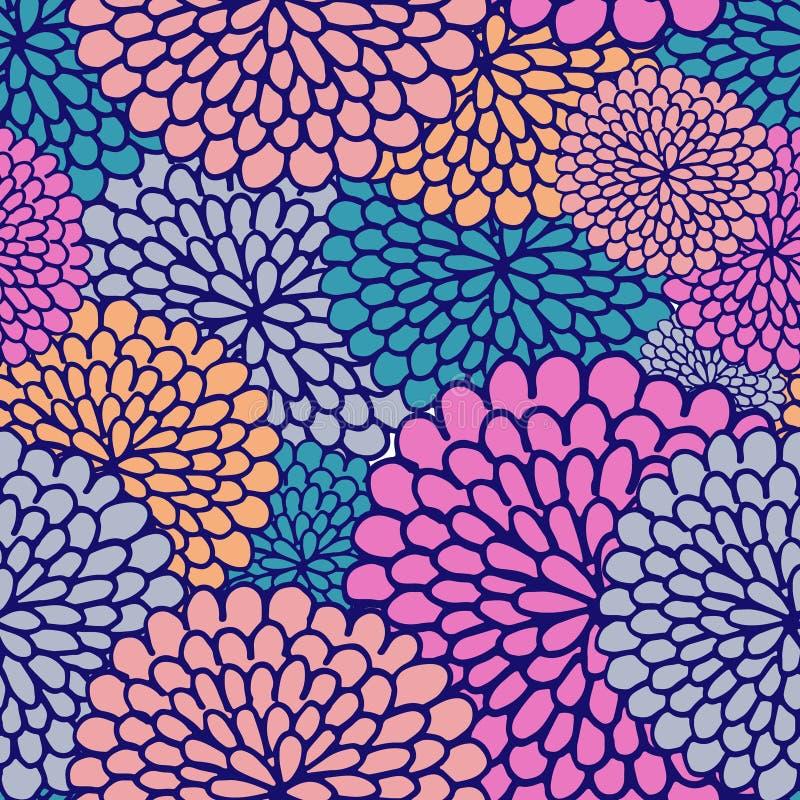 Het naadloze patroon van de Varicolouredbloem vector illustratie
