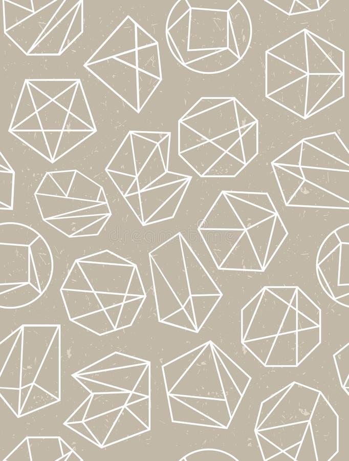 Het naadloze patroon van de veelhoekstijl Het kan voor prestaties van het ontwerpwerk noodzakelijk zijn vector illustratie