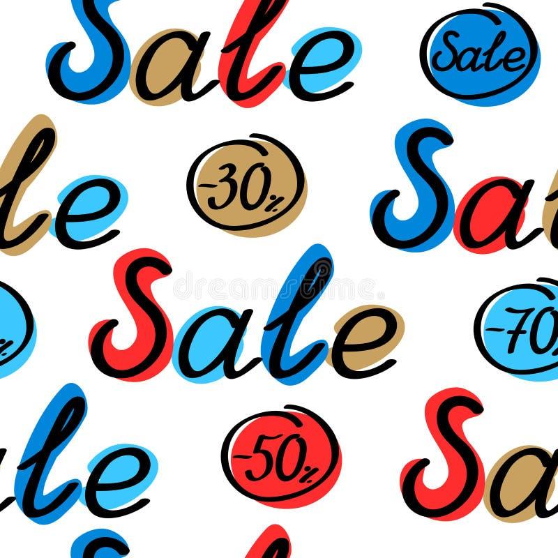 Het naadloze patroon van de verkoop royalty-vrije illustratie