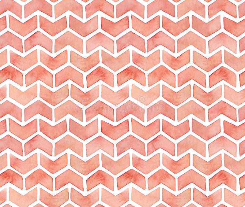 Het naadloze patroon van de Watercolourchevron royalty-vrije illustratie