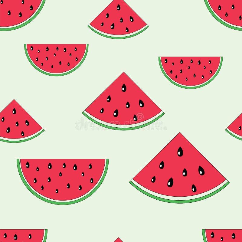 Het naadloze patroon van de watermeloen royalty-vrije illustratie