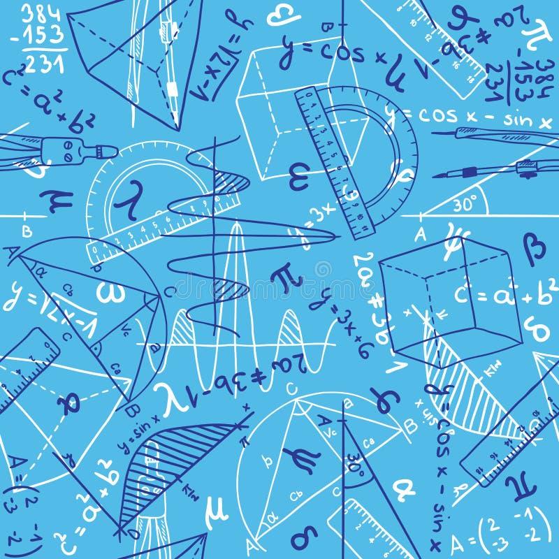 Het naadloze patroon van de wiskunde vector illustratie