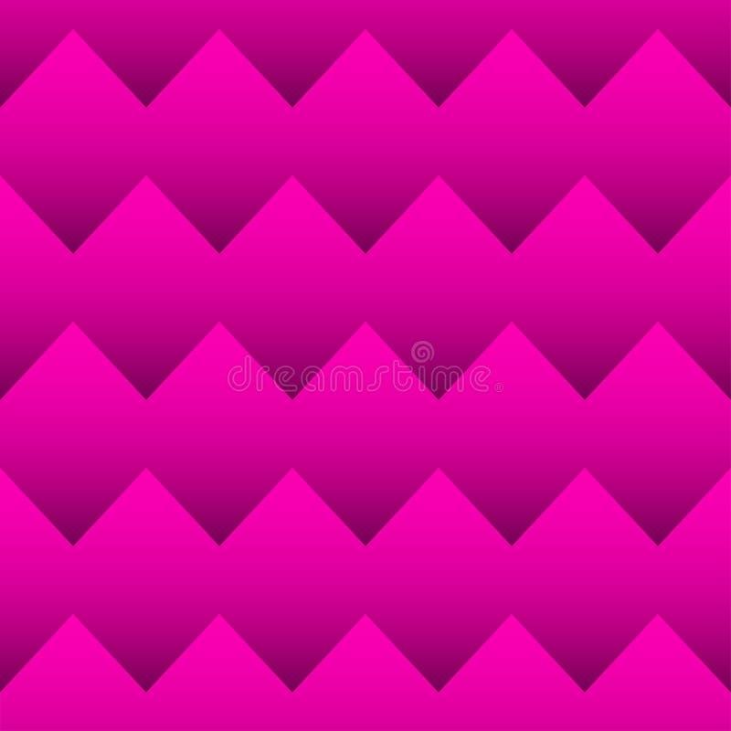 Het naadloze patroon van de zigzag stock illustratie