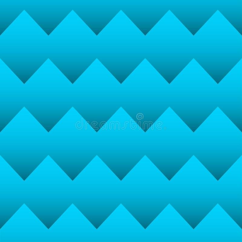Het naadloze patroon van de zigzag vector illustratie