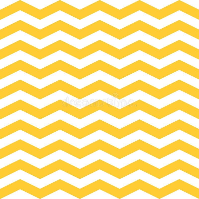 Het naadloze Patroon van de Zigzagchevron Gele en witte achtergrond stock illustratie