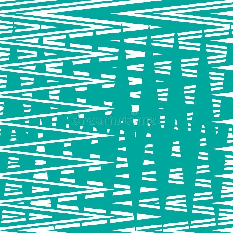 Het naadloze patroon van de zigzagstreep royalty-vrije illustratie