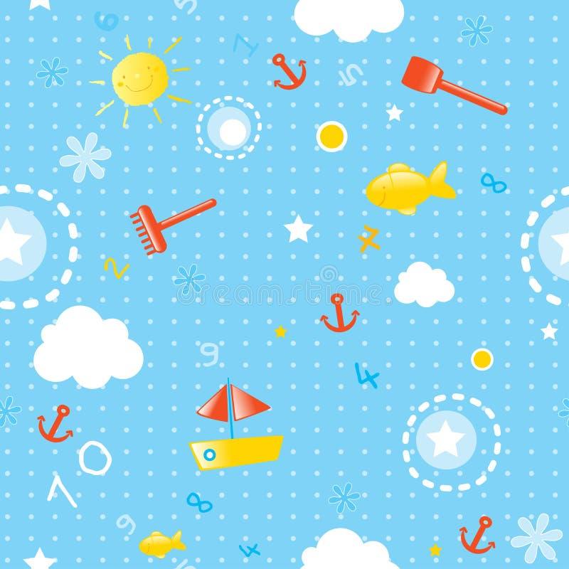 Het naadloze patroon van de zomer royalty-vrije illustratie
