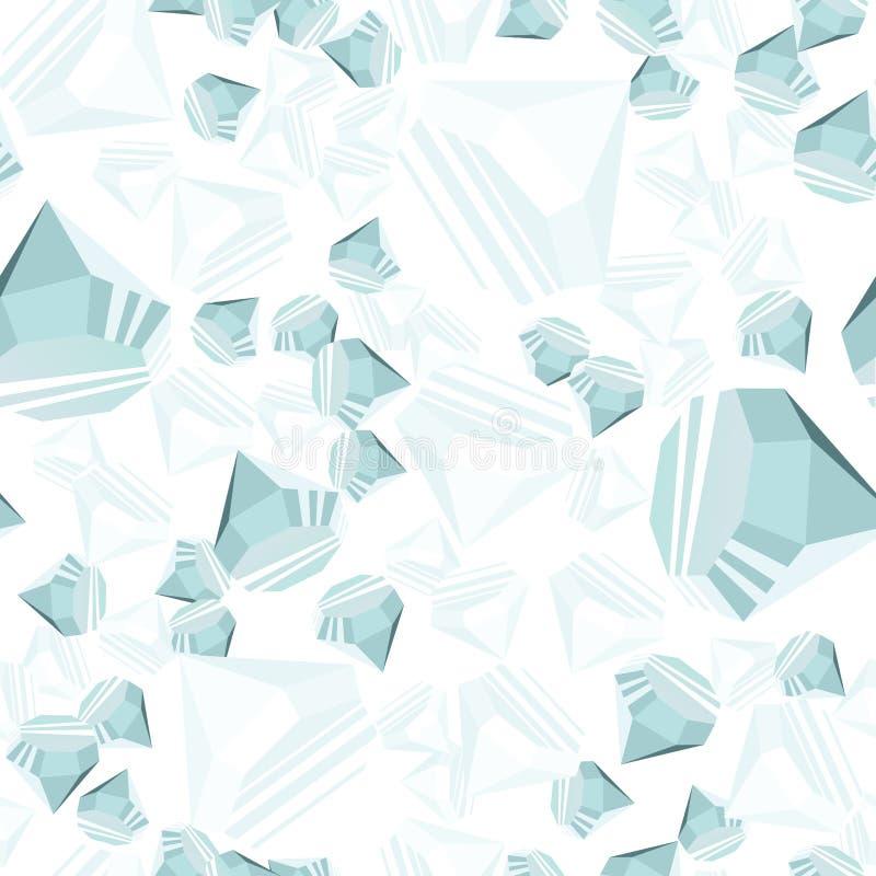 Het naadloze patroon van diamanten vector illustratie