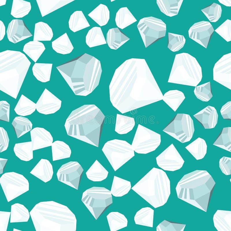 Het naadloze patroon van diamanten stock illustratie