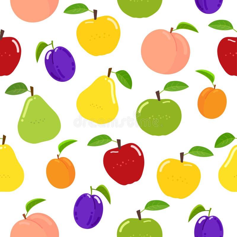 Het naadloze Patroon van het Fruit vector illustratie