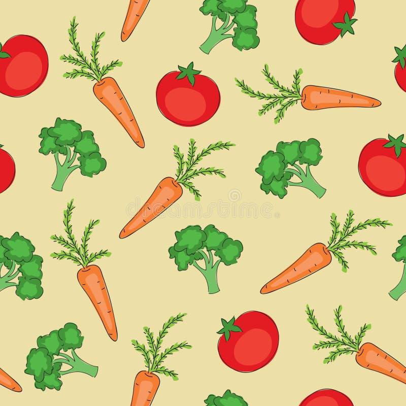 Het naadloze patroon van groenten vector illustratie