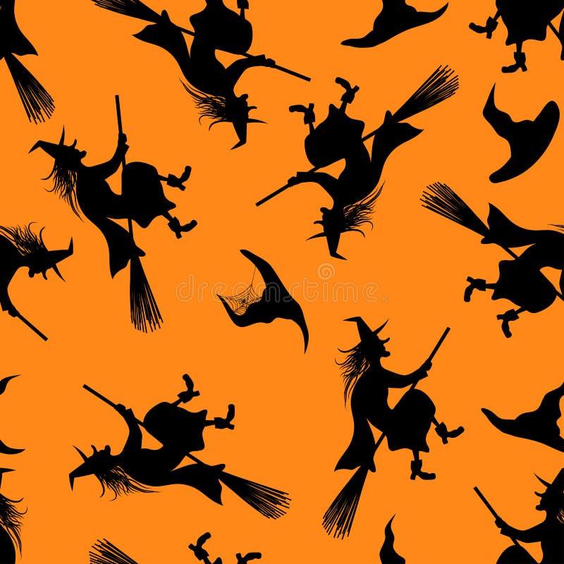 Het naadloze patroon van Halloween vector illustratie