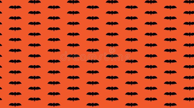 Het naadloze patroon van Halloween met zwarte knuppel vector illustratie