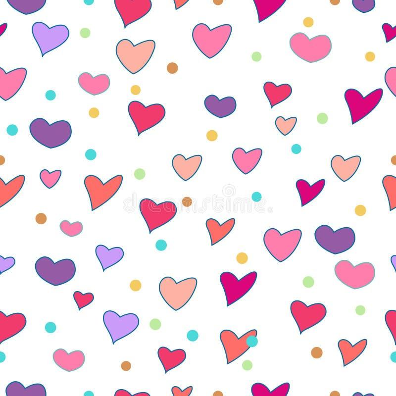Het naadloze patroon van het hart stock foto's