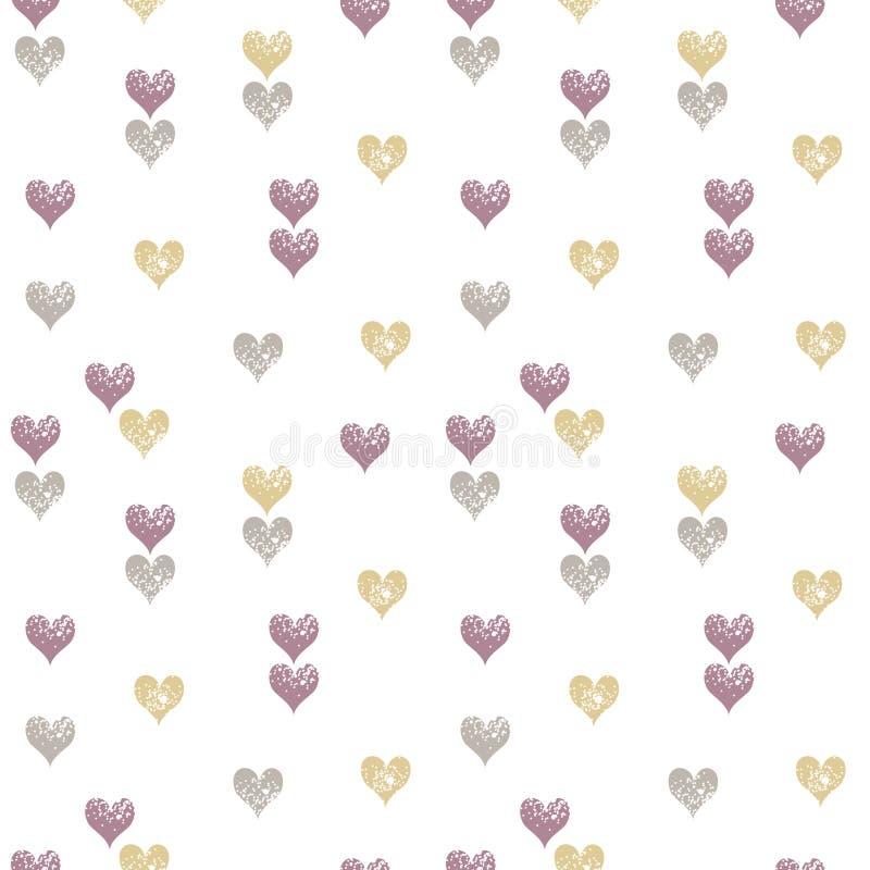 Het naadloze patroon van harten vector illustratie