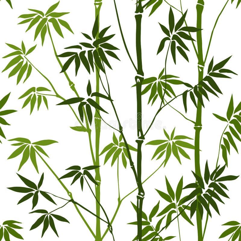 Het naadloze patroon van het bamboe vector illustratie