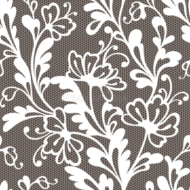 Het naadloze patroon van het bloemkant vector illustratie
