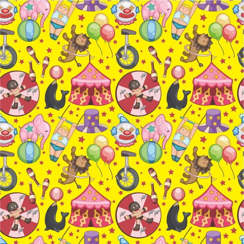 Het naadloze patroon van het Circus vector illustratie