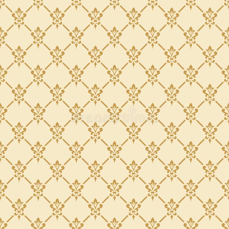 Het naadloze patroon van het damast vector illustratie