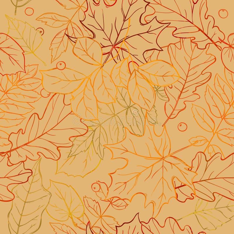 Het naadloze patroon van het de herfstblad stock foto's