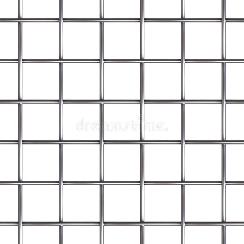 Het naadloze patroon van het draadnetwerk stock illustratie