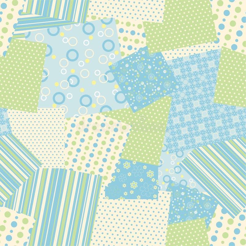Het naadloze patroon van het flard. Vector royalty-vrije illustratie