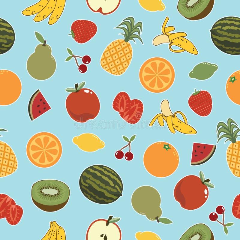 Het naadloze Patroon van het Fruit stock afbeeldingen