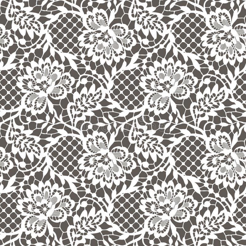 Het naadloze patroon van het kant vector illustratie