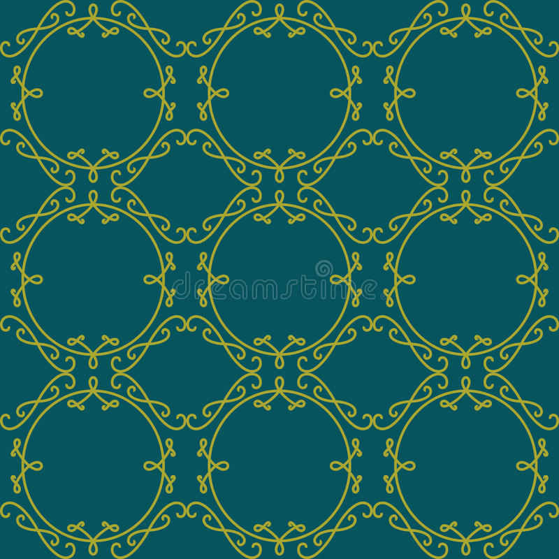 Het naadloze patroon van het kant Elegante uitstekende Vectorachtergrond Decorum royalty-vrije illustratie