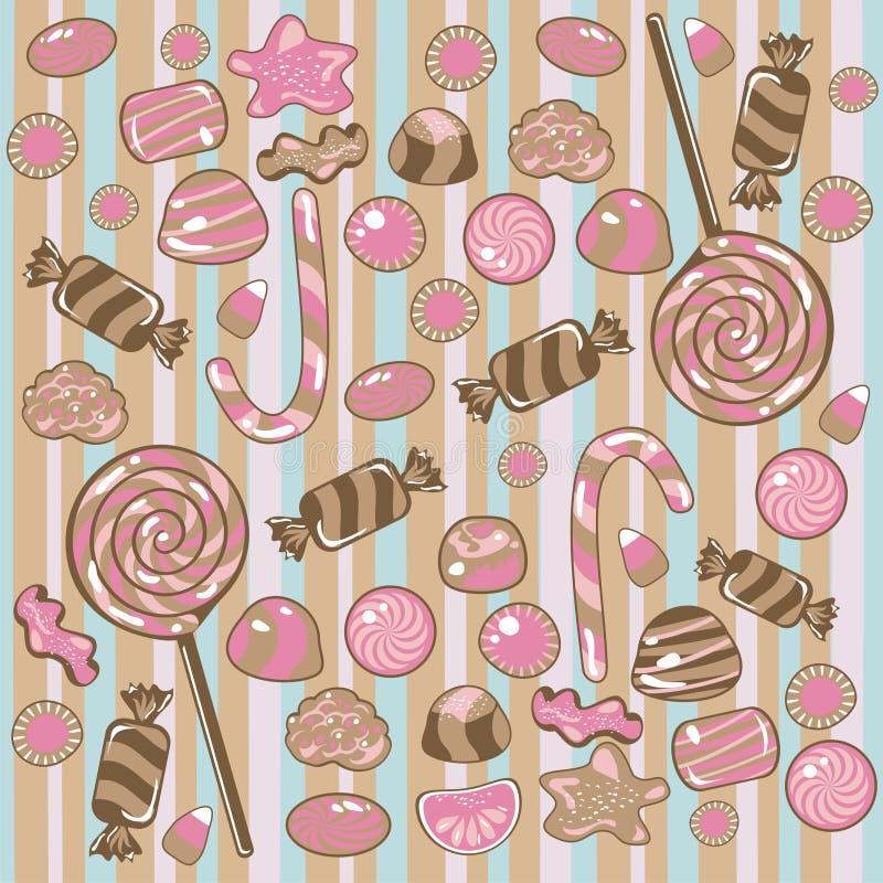 Het naadloze Patroon van het Suikergoed royalty-vrije illustratie