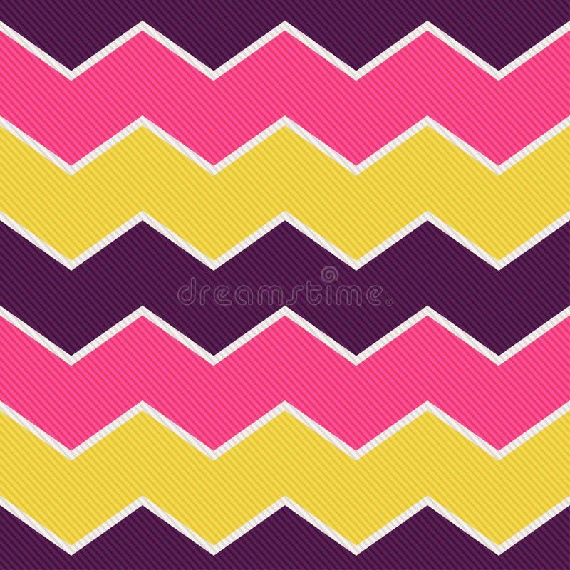 Het naadloze patroon van het zigzag geweven behang stock illustratie