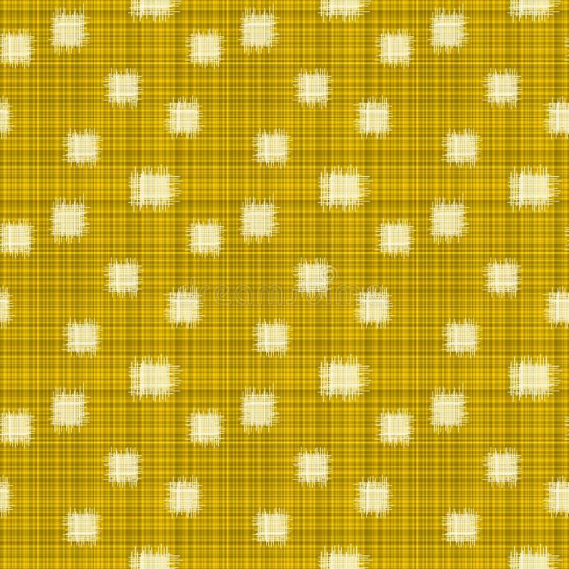 Het Naadloze Patroon van Ikat van flardvierkanten stock illustratie