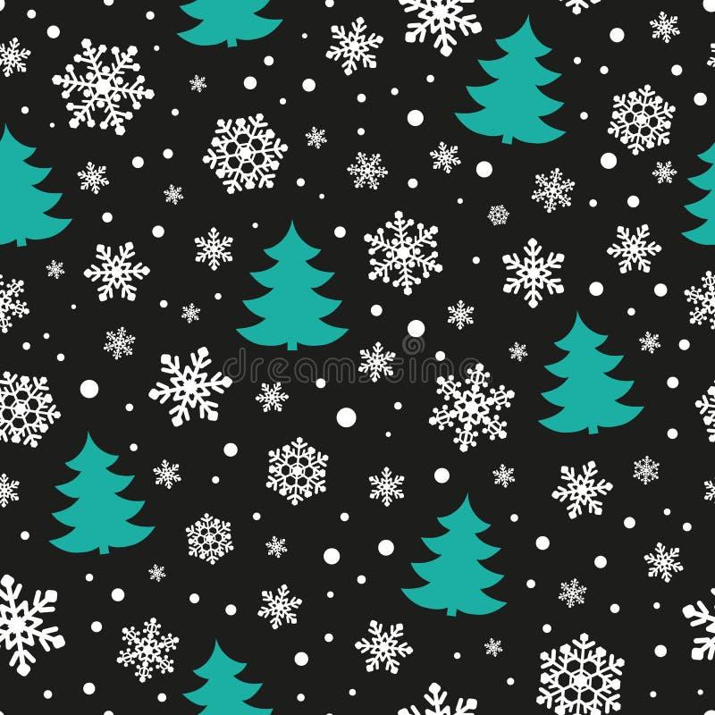 Het naadloze patroon van Kerstmis royalty-vrije illustratie