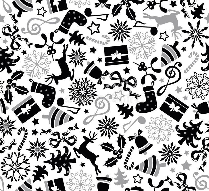 Het naadloze patroon van Kerstmis vector illustratie