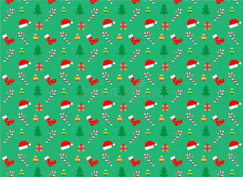 Het naadloze patroon van Kerstmis en van het Nieuwjaar Vector stock foto's