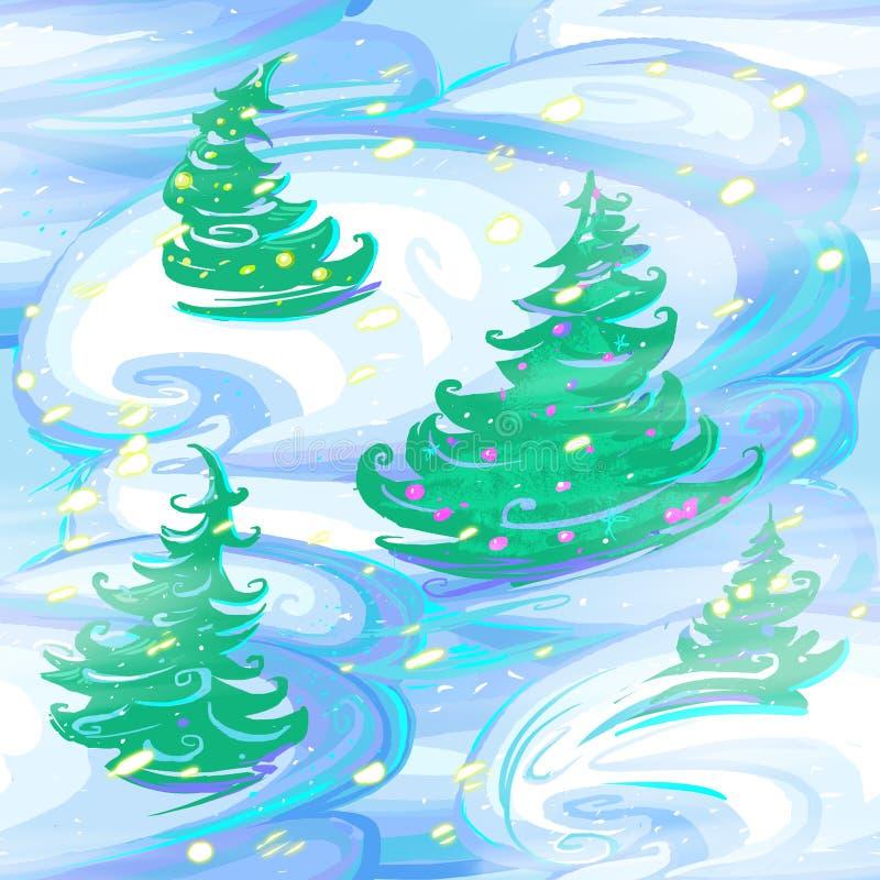 Het naadloze patroon van Kerstmis en van het Nieuwjaar royalty-vrije stock foto's