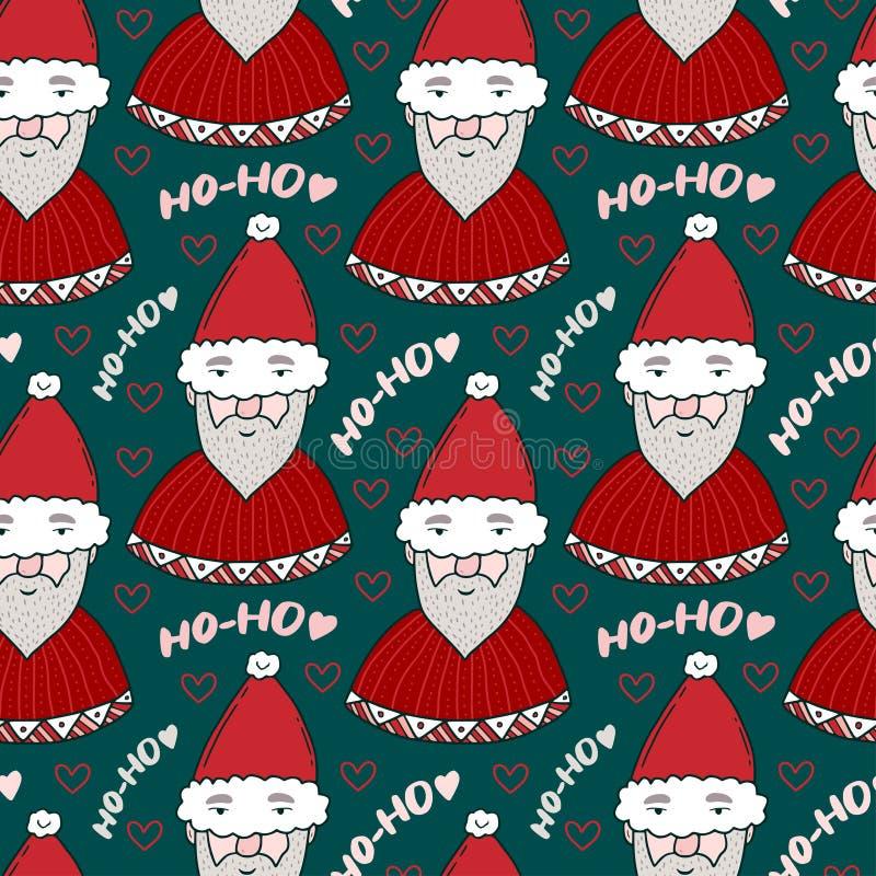 Het naadloze patroon van Kerstmis Nieuwjaar heldere achtergrond De textuur van de giftomslag Kerstmis verpakkend document patroon vector illustratie