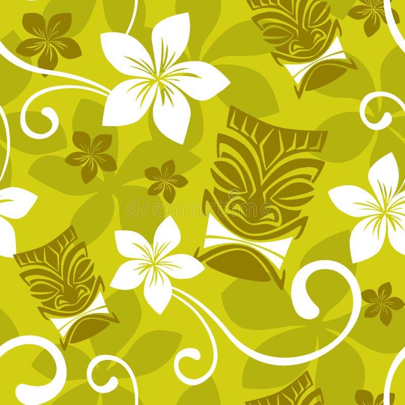 Het naadloze Patroon van Luau Tiki vector illustratie