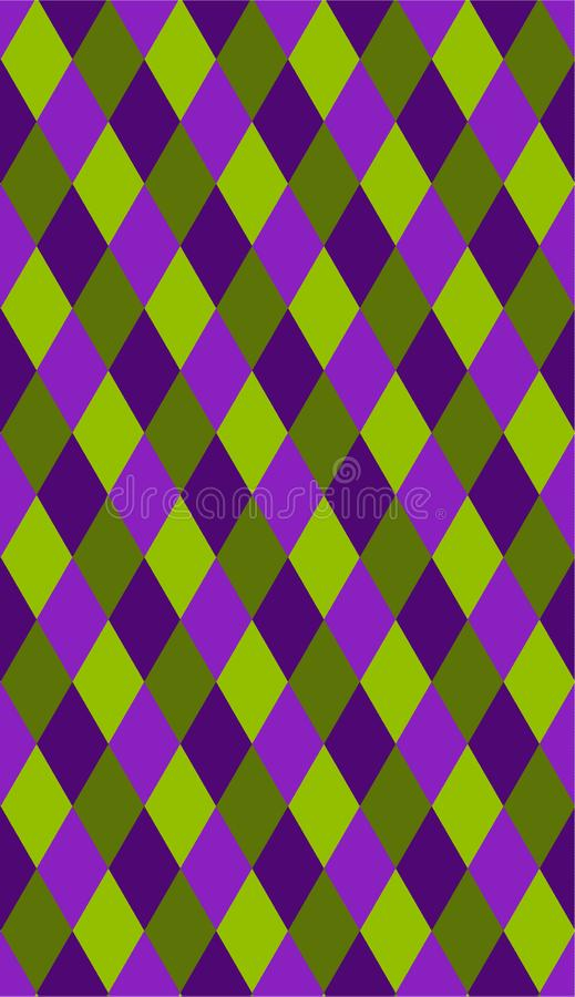 Het naadloze patroon van Mardigras Carnaval-Achtergrond Vette Dinsdag Harlekijn vectorpatroon stock illustratie