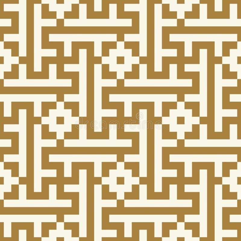 Het Naadloze Patroon van Marokko Oude pixel grafische stijl vector illustratie