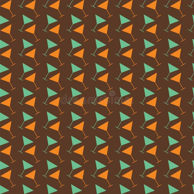 Het naadloze patroon van martini Abstracte kleur stock illustratie