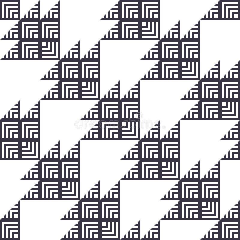 Het Naadloze Patroon van modieuze Houndstooth vector illustratie