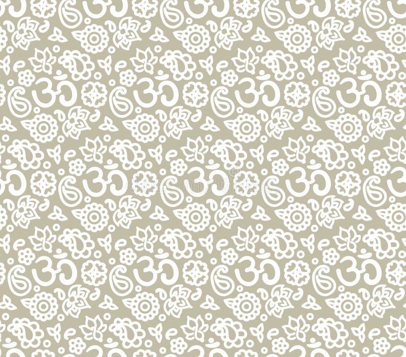 Het naadloze patroon van OM vector illustratie