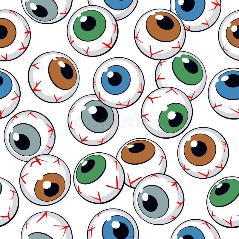 Het naadloze patroon van oogappels vector illustratie